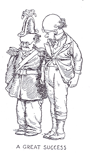 Prof Branestawm and Colonel Dedshott swap clothes