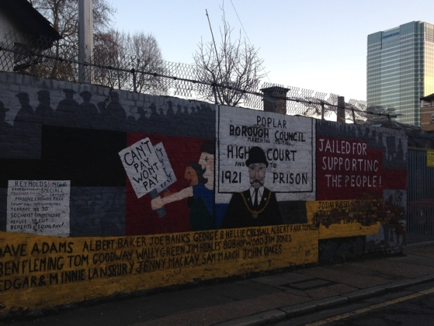 Poplar Rates Rebellion mural.