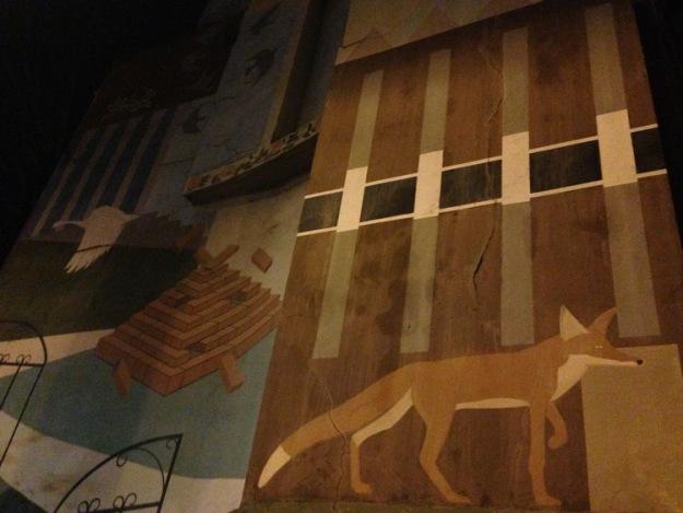 Fox, Bellfields Road mural.